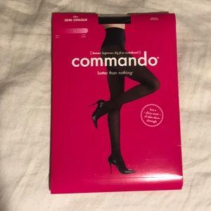 Commando Accessories - NWT Commando Semi Opaque Black Tights Size M